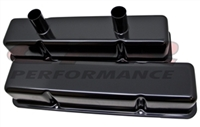 STEEL 1958-79 CHEVY SB 283-350 CIRCLE TRACK RACING VALVE COVERS Black