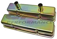 1958-79 CHEVY small blcok 283-350 CIRCLE TRACK RACING VALVE COVERS - ZINC