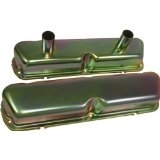 1962 85 FORD SMALL BLOCK 260 289 302 351W CIRCLE TRACK RACING VALVE COVERS ZINC