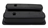 1987-97 CHEVY 5.0L & 5.7L TALL ALUMINUM CENTER BOLT VALVE COVERS - FINNED BLACK