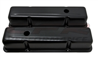 ALUMINUM 1958-86 CHEVY SB 283-305-327-350-400 TALL VALVE COVERS ANODIZED BLACK