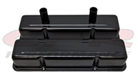 ALUMINUM TALL VALVE COVERS CHEVY Small blcok CIRCLE TRACK 283-400 ANODIZED BLACK