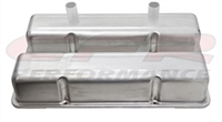 ALUMINUM TALL VALVE COVERS CHEVY Small blcok CIRCLE TRACK 283-400 RAW ALUMINUM
