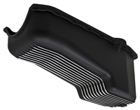 1958-79 CHEVY SB 262-400 ALUMINUM STOCK CAPACITY OIL PAN - RETRO FINNED - BLACK