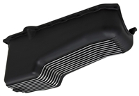 Aluminum BLACK Chevy Small Block chevrolet Oil Pan finned V8 305 350 1980-85