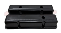ALUMINUM OE STYLE TALL VALVE COVERS CHEVY SMALL BLOCK 283 350 400 ANODIZED BLACK