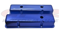 ALUMINUM OE STYLE TALL VALVE COVERS CHEVY SMALL BLOCK 283 350 400 ANODIZED BLUE
