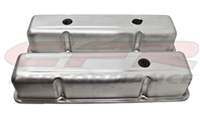 ALUMINUM OE STYLE TALL VALVE COVERS CHEVY SMALL BLOCK 283 350 400 RAW ALUMINUM