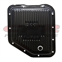 STEEL CHEVY GM TURBO TH-200 TRANSMISSION PAN STOCK CAPACITY BLACK