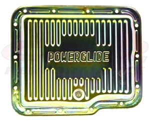 Chevy Powerglide Zinc Steel Transmission Pan With Drain