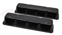 Valve Covers Stock Height Steel Black Plain AMC jeep 290-401 V8 Pair