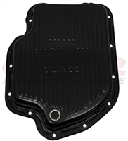 Chevy 400 extra deep sump Black Transmission Pan with drain plug th400