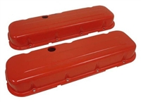 Big Block Chevy orange Steel Valve Covers 396 427 454 short painted style