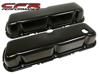 STEEL 1986-95 FORD 302 5.0L FOX BODY MUSTANG VALVE COVERS SMOOTH - BLACK