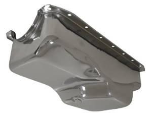 1956-87 CHRYSLER/MOPAR SMALL BLOCK 273-318-340 OIL PAN - CHROME