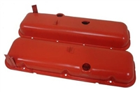 Big Block Chevy orange Steel Valve Covers 396 427 454 Chevrolet painted oe style