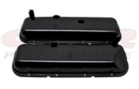 Big Block Chevy Black Steel Valve Covers 396 427 454 recessed painted oe style