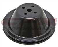 Water Pump Pulley Steel Black Single chevy Short 283 327 350 400 small block