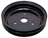 CHEVY SMALL BLOCK BLACK STEEL CRANKSHAFT PULLEY - SHORT (2 GROOVE)