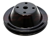 Chevy black steel Water Pump Pulley 1 v groove single long gmc small 350 400