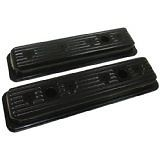 black Valve Covers steel Chevy small block 305 350 400 center bolt GMC 5.7 5.0