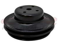Water Pump Pulley Steel Black Double Groove Long Pump 396 427 454 chevy gmc