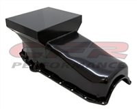 1958-79 CHEVY SMALL BLOCK 283-305-327-350-400 DRAG RACING OIL PAN -Black
