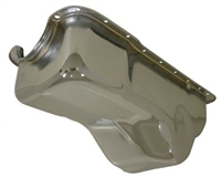 1988-96 FORD SMALL BLOCK 255-260-289-302 STOCK CAPACITY TRUCK OIL PAN - CHROME rear sump