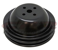Water Pump Pulley Black steel Double Groove big block Short chevy 396 427 454