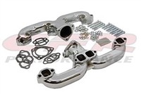 Exhaust Chrome steel Manifold Set Chevy ram RAMS horns header CHEVY