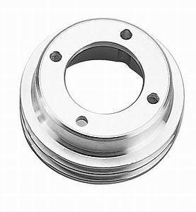Crankshaft Pulley V-Belt 2-Groove Steel EDP Black SBC Long Pump 350 400 Chevy