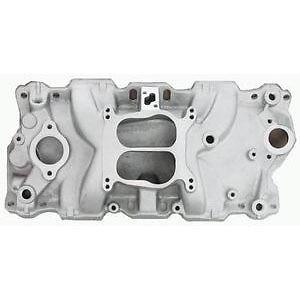 Aluminum Small Block Chevy Dual Plane intake Manifold vor 350 327 400 brock  satiin