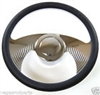 "14"" Chrome Aluminum steering wheel WING GM chevy custom half wrap"