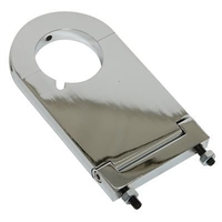 "Steering Column Mount 2.0"" Diameter 3.50"" Drop Aluminum Chrome universal 3 1/2"" WITH KEY"