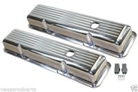 Polished Aluminum Valve Covers SHORT BALL MILLED SMALL BLOCK CHEVY