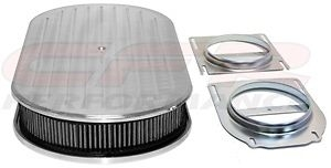 19 Quot Dual Quad Oval Polished Aluminum Ball Milled Air Cleaner