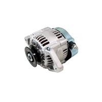 SATIN MINI ALTERNATOR DENSO STREET ROD RACE 1-WIRE 90 AMP one wire street rod