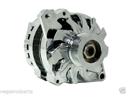 110 Amp Chrome Alternator Gm Chevy Chevrolet Single One