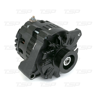 GM CS130 Style 160 Amp Alternator with Serpentine Pulley Black