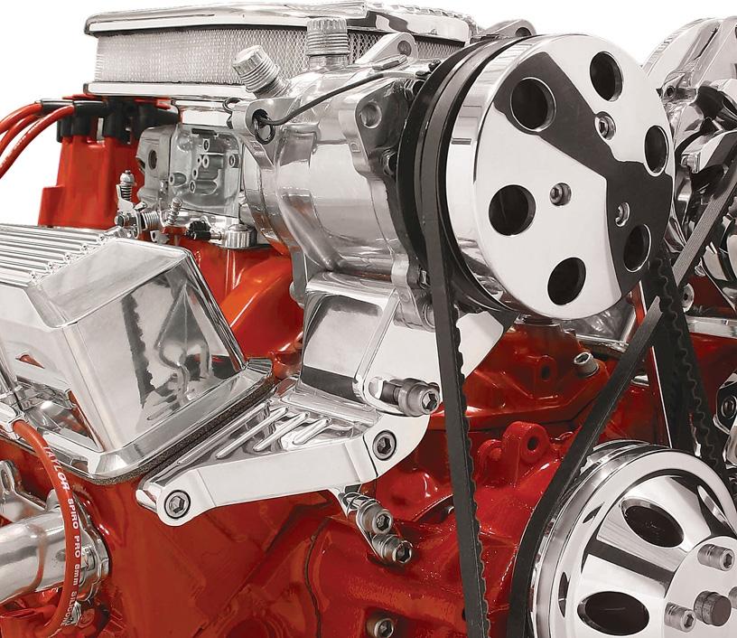 Polished Sanden Ac Compressor Bracket Top Mount Long Pump