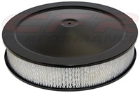 "CHEVY FORD MOPAR 14"" black STEEL AIR CLEANER SET round paper Recessed BASE"
