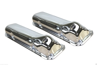 1969-82 FORD 351C 351M 400M BOSS 302 STEEL VALVE COVERS CHROME cleavland