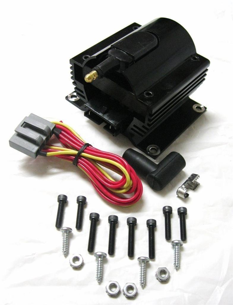 12 volt external ignition coil e core style black. Black Bedroom Furniture Sets. Home Design Ideas