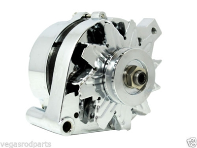 alternator chrome ford 289 302 351w mustang 3 wire 100 amp 05 Ford Mustang Wiring Diagram
