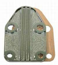 Fuel Pump Block Off Plate small blok chevy finned
