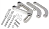 1963-87 CHEVY SMALL BLOCK POWER STEERING BRACKET SET (LWP) - POLISHED