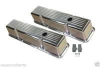 Aluminum Valve Covers small block chevy 305 350 327 tall Chevrolet polished ball milled
