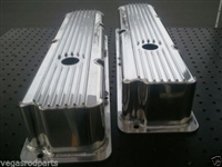 Valve Covers big block ford fe fabricated Polished Aluminum finned 390 352 360