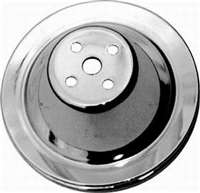 Small block Chevy Water Pump Pulley single groove chrome steel