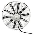"Chrome 16 "" inch HIGH PERFORMANCE ELECTRIC RADIATOR COOLING FAN FLAT BLADe"